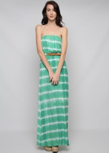 Dip dyed maxi that comes in green, blue and black