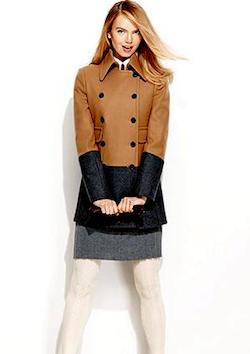color blocked coat
